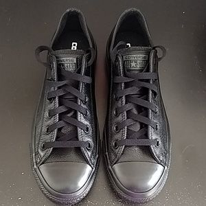 Unisex Converse Black All Star Leather Sneaker